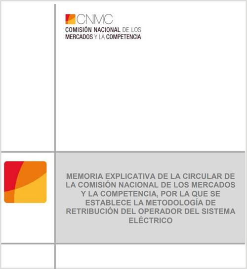 Portada Proyecto de Circular por la que se establece la metodología para el cálculo de la retribución de la actividad de distribución de energía eléctrica