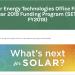 El DOE selecciona 75 proyectos de investigación estadounidenses para avanzar en tecnologías solares
