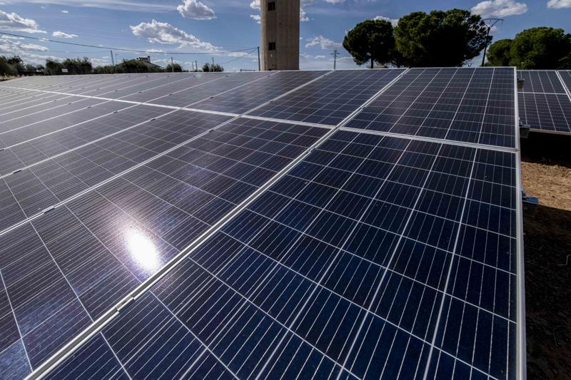 Unas placas fotovoltaicas.