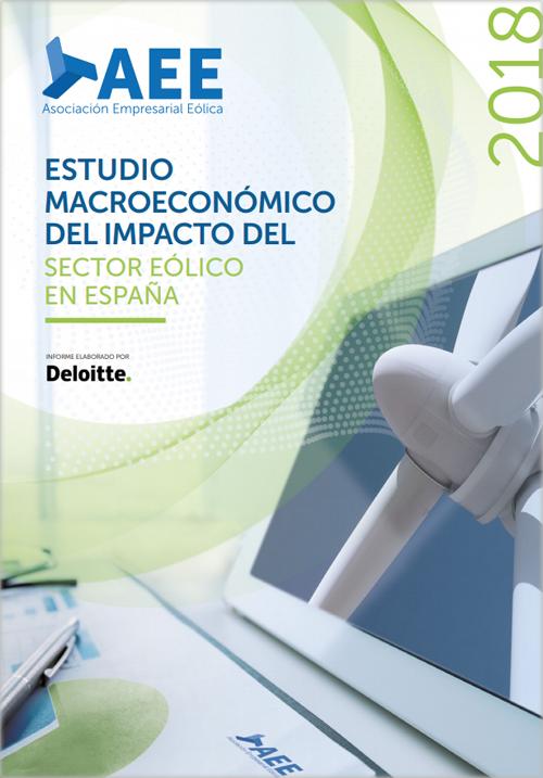 Portada del informe Estudio Macroeconómico del Impacto del Sector Eólico en España