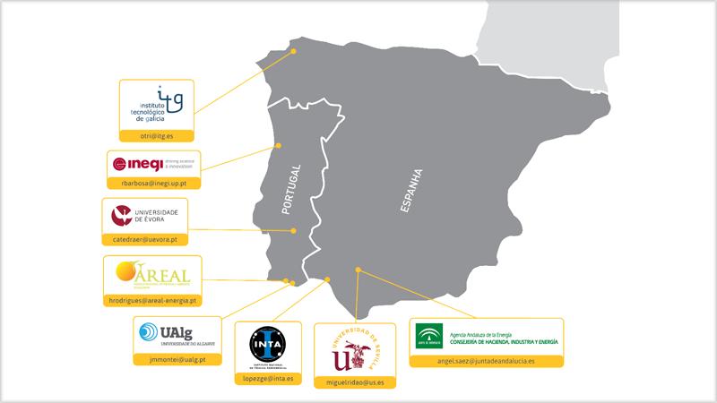 Mapa con los miembros del proyecto Agerar