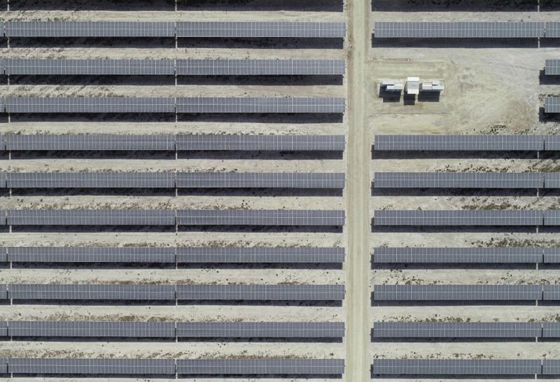 Planta fotovoltaica desde el aire