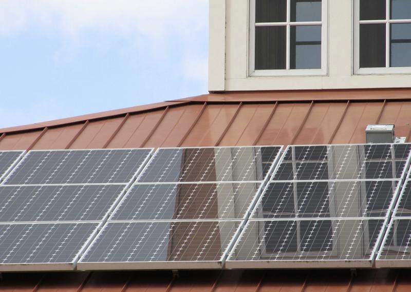 Energía solar en tejado