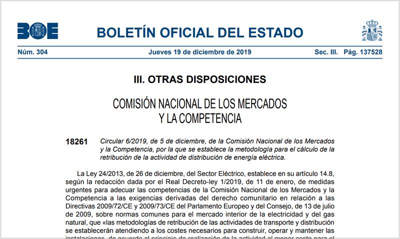 Publicación del Boletín Oficial del Estadoi