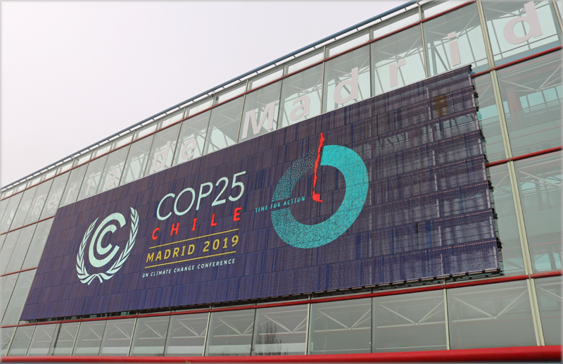 Cartel COP25 en Ifema