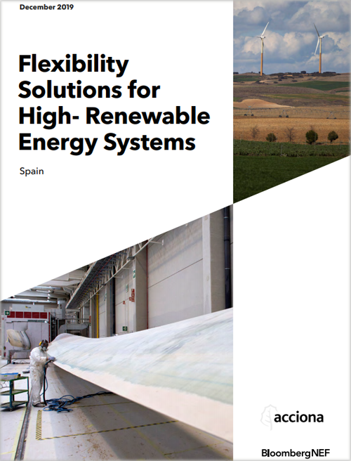 Portada del informe 'Flexibility Solutions for High- Renewable Energy Systems'