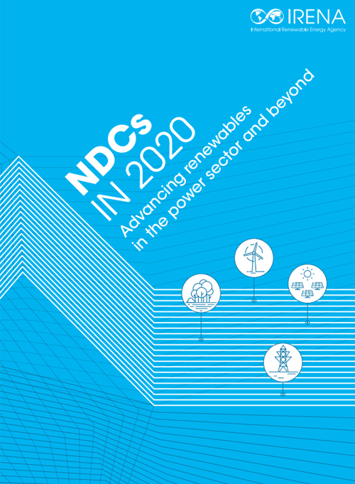 Portada del informe 'NDCs in 2020: Advancing Renewables in the Power Sector and Beyond'