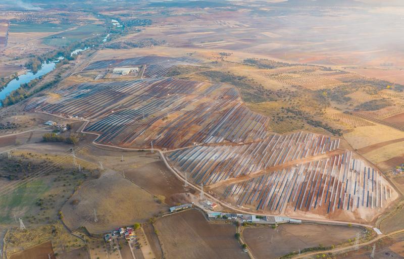 Parque fotovoltaico 'La Fernandina', en Extremadura.