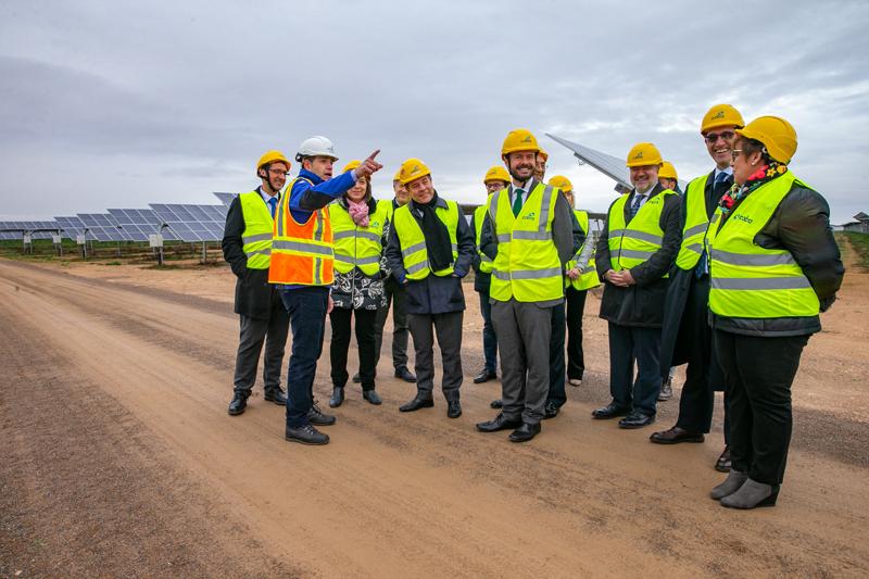 Inauguración de las cuatro plantas fotovoltaicas de Alcázar de San Juan.