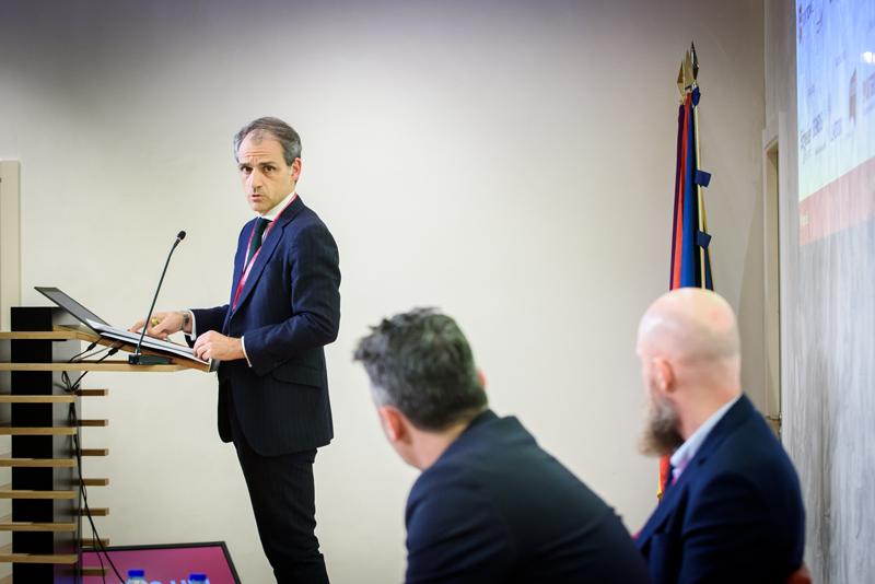Isaac Martín, viceconsejero de Economía y Competitividad de la Comunidad de Madrid, en el acto de clausura del VI Congreso Smart Grids.