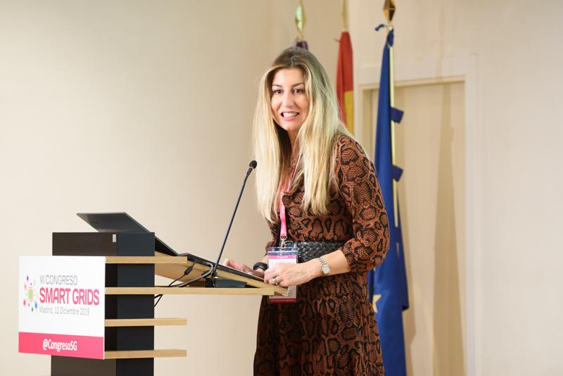 Lola Ortiz, decana del Colegio de Ingenieros de Caminos, Canales y Puertos de Madrid, en cuyo auditorio se celebró el VI Congreso Smart Grids.