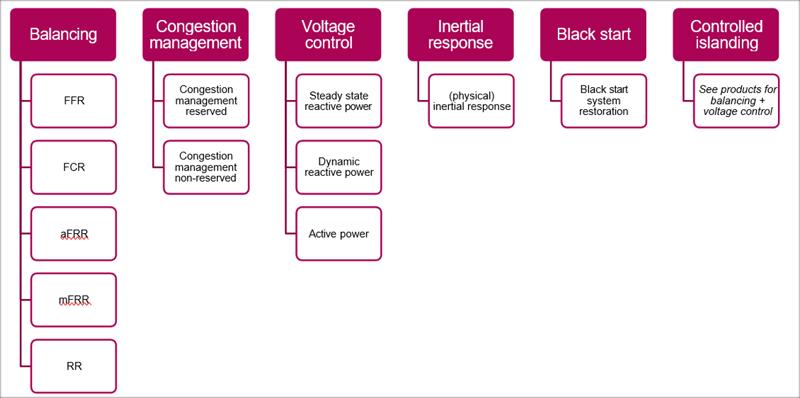 Figura 1. Productos y servicios de red definidos en el proyecto CoordiNet (Kessels et al., 2019) .
