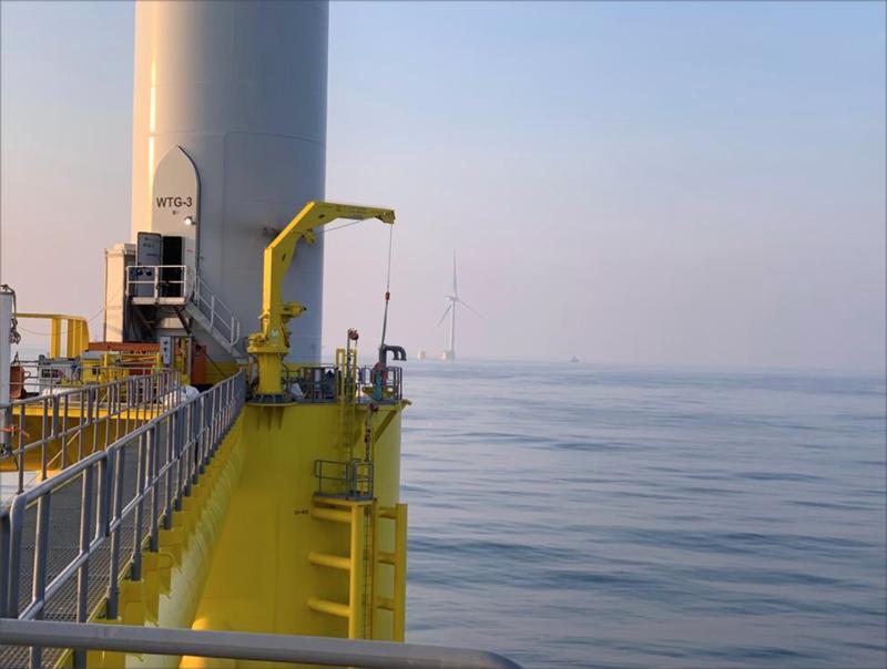 Conectado a la red el primer aerogenerador del parque eólico offshore WindFloat Atlantic