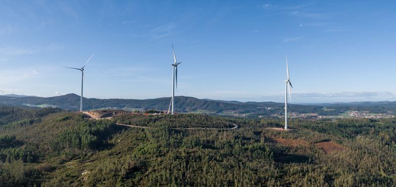 Parque eólico de Miñón, en A Coruña.