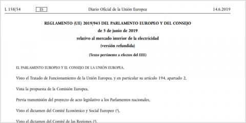 El reglamento europeo relativo al mercado interior de la electricidad se aplica desde este mes de enero