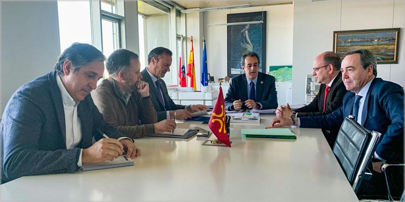 Reunión de los representantes gubernamentales y empresariales celebrada la semana pasada.