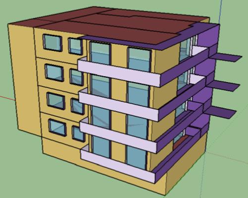 Dibujo edificio.