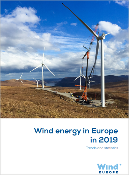 Portada del informe 'Wind energy in Europe in 2019'