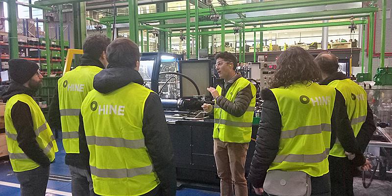 Imagen de la reunión de lanzamiento en las instalaciones de HINE Renovables.