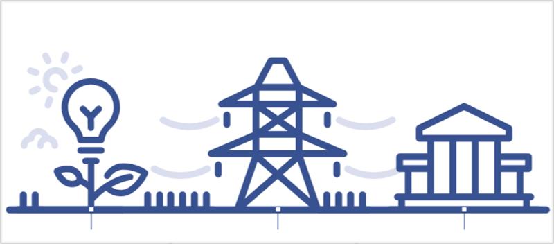 Ilustración red eléctrica