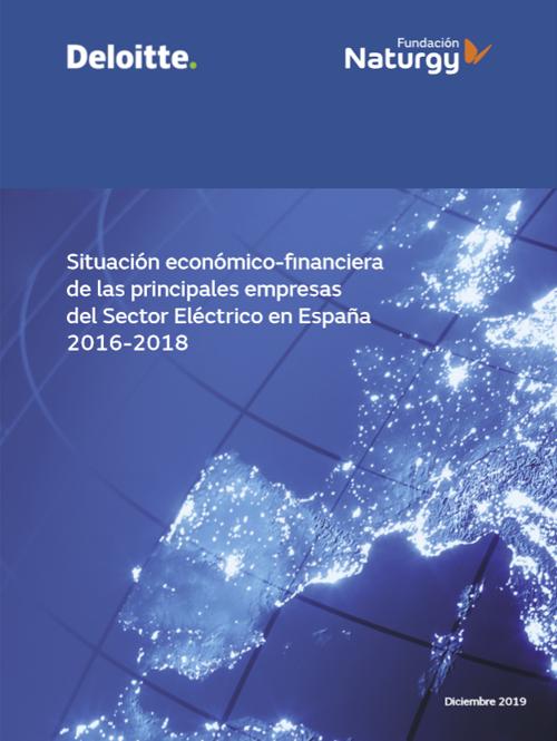 Portada del informe Portada del informe 'Situación económico-financiera de las principales empresas del sector eléctrico en España'.