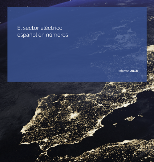 Portada del informe 'El sector eléctrico español en números. Informe 2018'