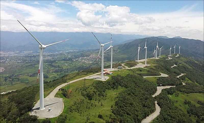 Figura 1. Parque eólico Villonaco. www.celec.gob.ec.