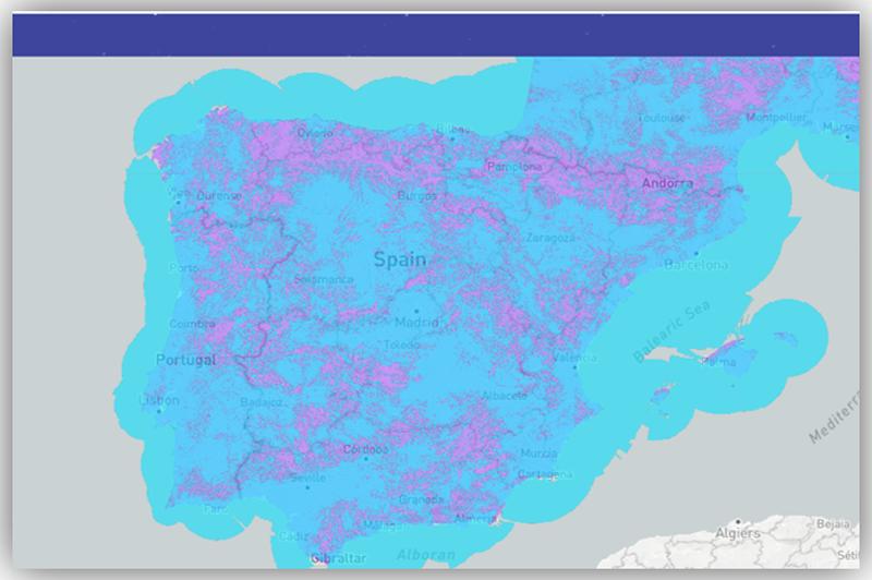 mapa de cobertura en España