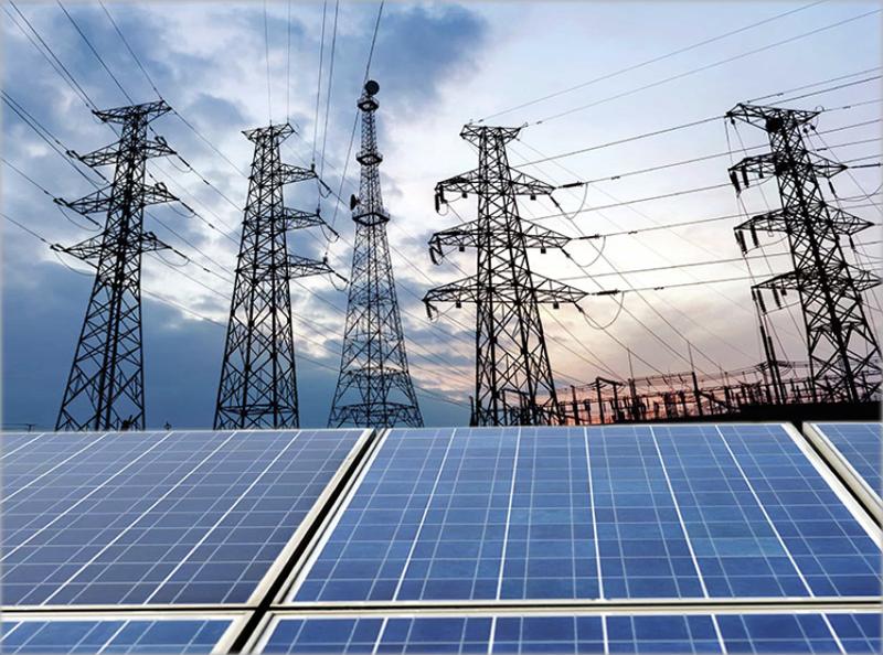 Red eléctrica y energía fotovoltaica