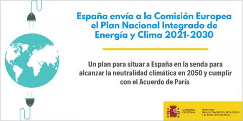 El Consejo de Ministros acuerda remitir a Bruselas el Plan Nacional Integrado de Energía y Clima 2021-2030