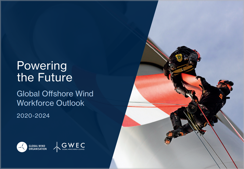 Portada informe 'Powering the Future: Global Offshore Wind Workforce Outlook 2020-2024'