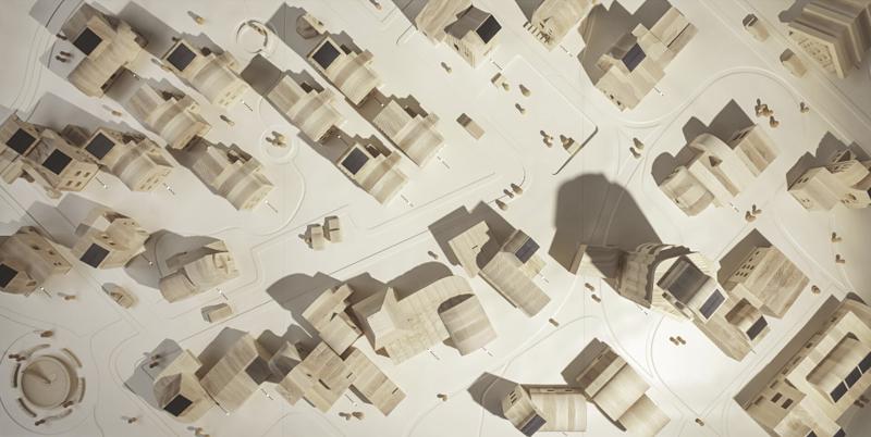 Vista aérea de la maqueta