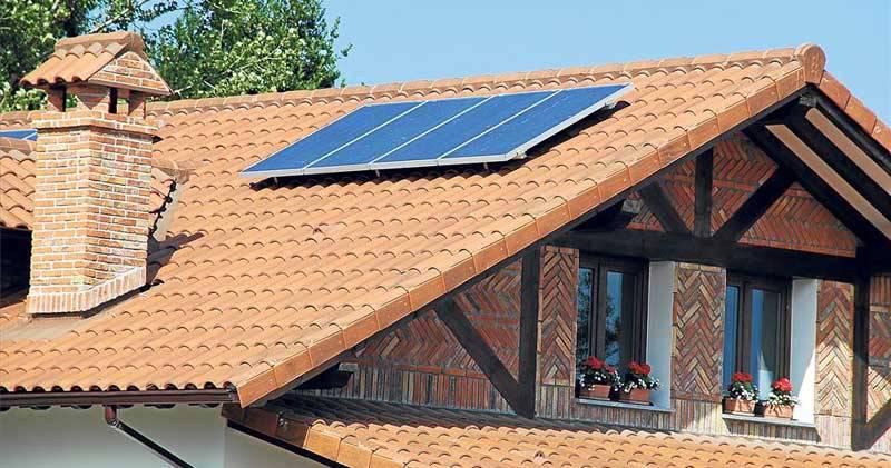 Plaza solar en tejado