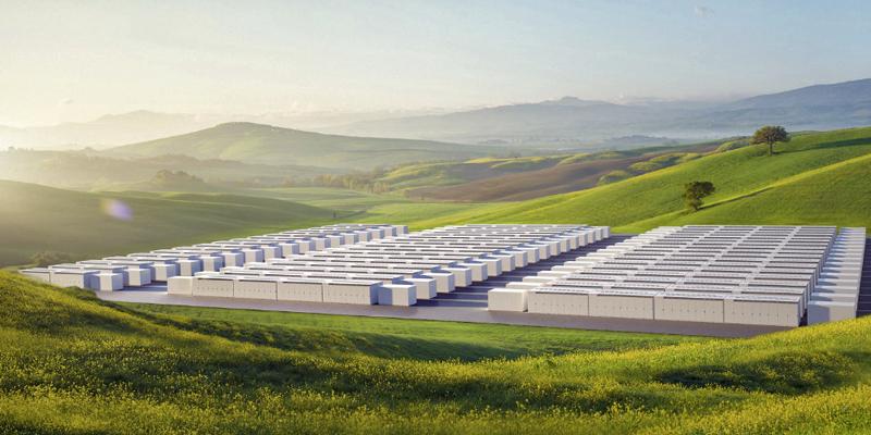 El Megapack de Tesla es una solución de batería para proyectos a gran escala de almacenar energía eléctrica