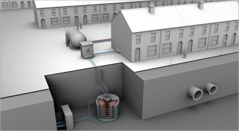 batería térmica en área residencial