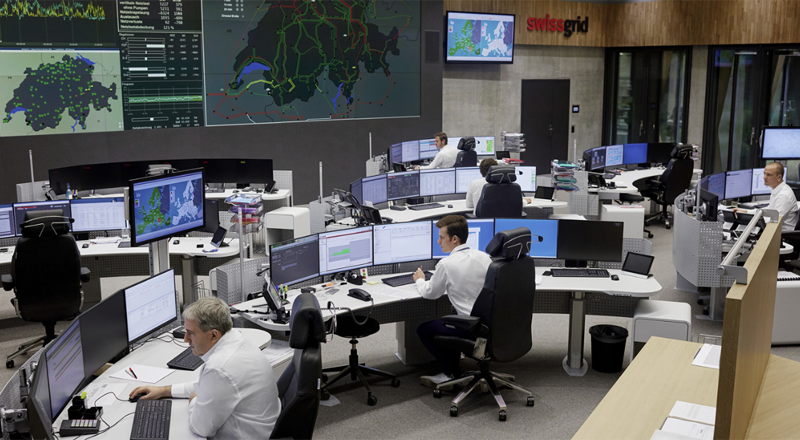 Centro de control de Swissgrid,