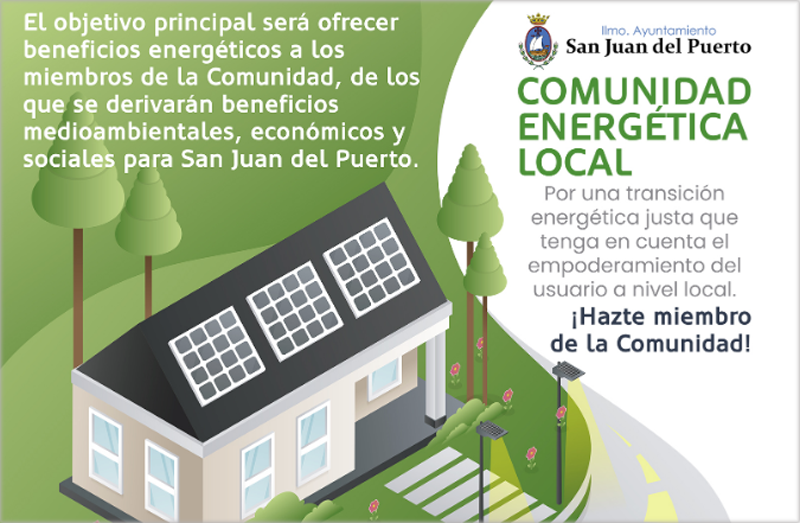 Cartel de adhesión a la Cartel Comunidad Energética Local