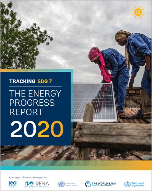 Portada del informe 'Seguimiento de ODS 7: El Informe de Progreso Energético (2020)'