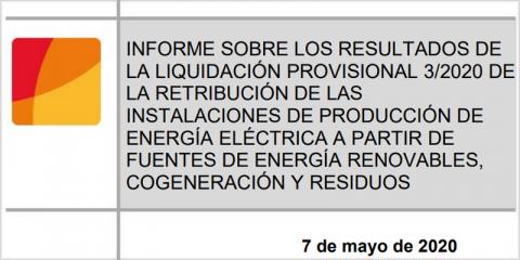 La CNMC publica la tercera liquidación provisional de 2020 del sector eléctrico