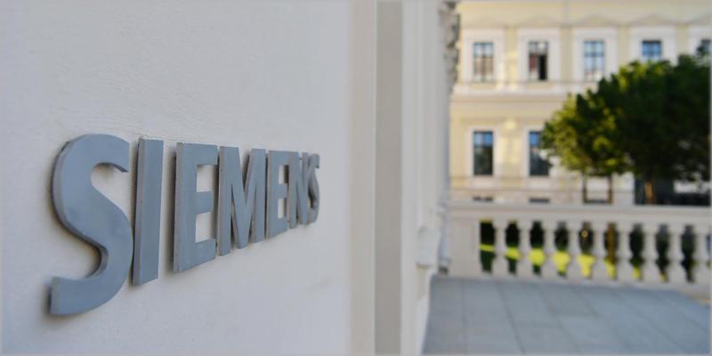 Fachada con logo de Siemens