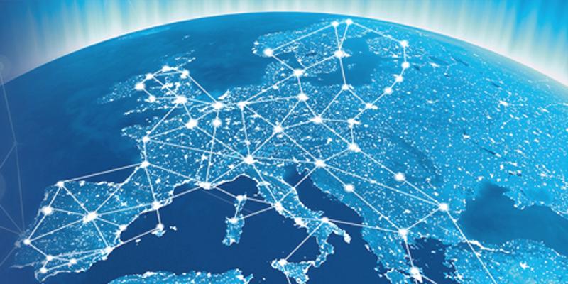 Mapa del mundo para ilustrar las smart grids.