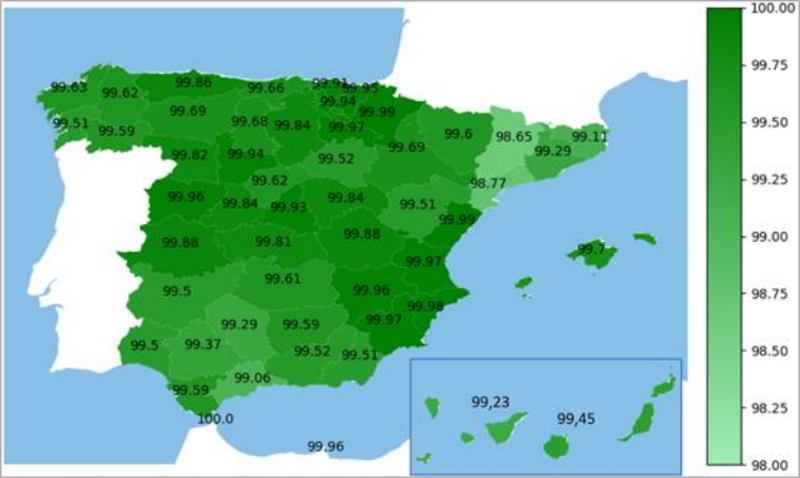 Mapa del cambio de contadores.