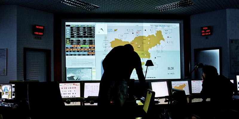 Interior de un centro de control
