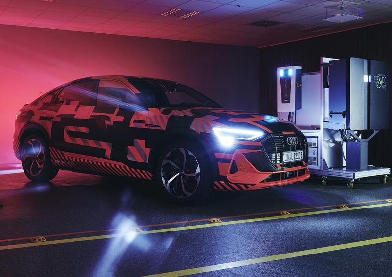 Audi y Hager investigan la carga bidireccional con vehículos eléctricos.
