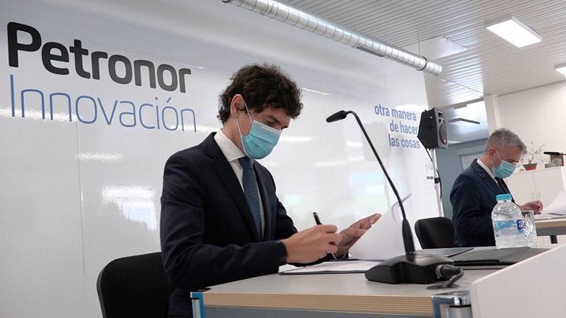 La firma del lanzamiento del Hub Vasco de Hidrógeno.