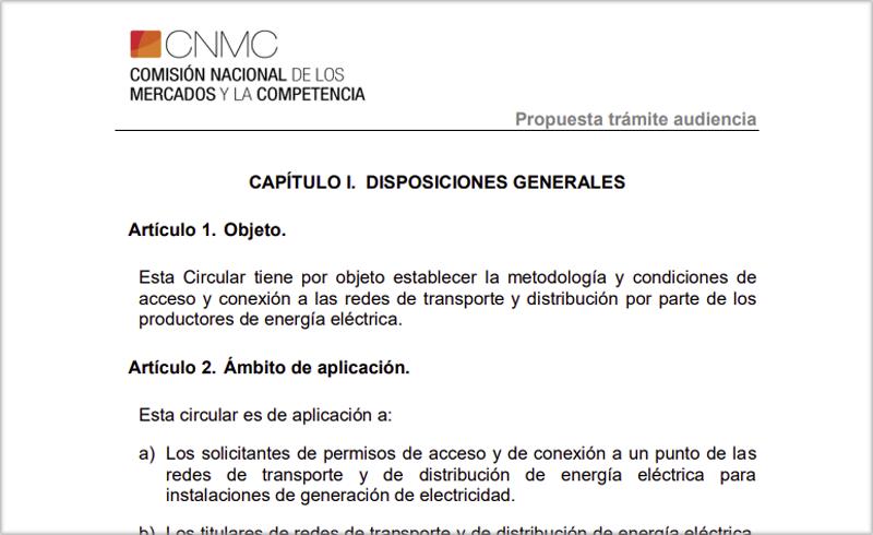 Nueva consulta de la CNMC