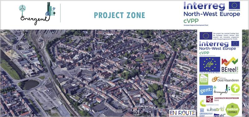 Zona de Gante donde se ha desarrollado el proyecto