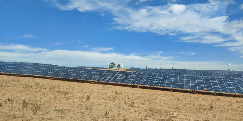 Inauguración de la planta fotovoltaica Andévalo en Puebla de Guzmán, Huelva