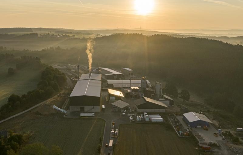 Planta de producción de hidrógeno.