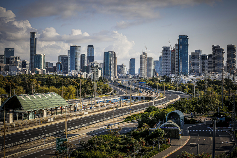 carretera eléctrica en Tel Aviv